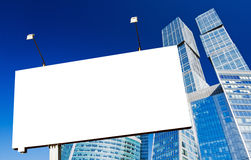 billboardów drapacz chmur Obrazy Royalty Free