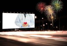 Billboardów zdrowie Zdjęcia Royalty Free