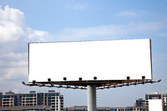 Billboard. The billboard on the blue sky background royalty free stock photography