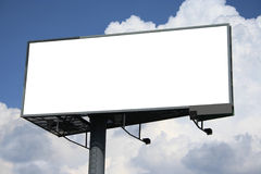 Billboard. Empty billboard on cloudy sky stock photography