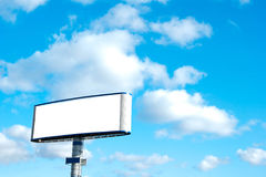 Billboard. Big billboard with blank space and very clean ready to put your ad Royalty Free Stock Photo