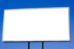 Billboard. Bigboard against the sky with place to advertise stock photo
