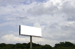 Billboard. Space white business billboard outdoor stock photo