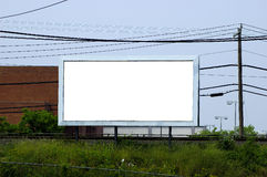 Billboard. Blank Outdoor Advertising Billboard stock photos