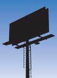 Billboard. Silhouette of a street billboard on blue sky background Royalty Free Stock Photo