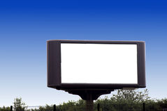 Billboard. A blank billboard for your advertisement Royalty Free Stock Images