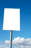 Billboard. A photo of a blank billboard in order to be able to put text royalty free stock images