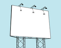 Billboard. In blue background Stock Photography