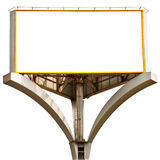 Billboard. Empty billboard isolated on a white background royalty free stock photos