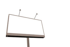 Billboard. Isolated on the white Stock Photography