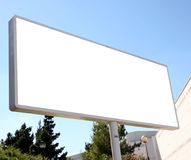 Billboard. Blank billboard royalty free stock images