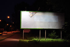 Billboard. Urban billboard at night, background royalty free stock photo