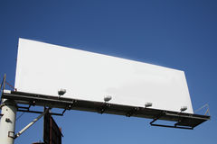 Billboard. Blank billboard with blue background Stock Photo