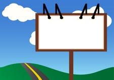 Billboard. A blank billboard standing next to a road Stock Illustration