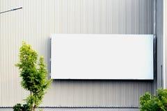 Billboard. White Billboard on the wall Royalty Free Stock Image