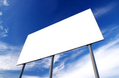 Billboard. Blank billboard and cloudy sky Stock Photos