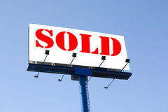 Billboard. With sold sign stock images