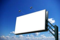 Billboard. Advertising billboard on sky background royalty free stock photos