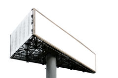 Billboard. Three-cornered blank big billboard isolated over white background royalty free stock photography