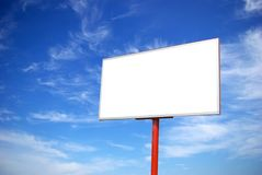 Billboard. Advertising billboard on sky background stock photos