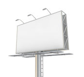 Billboard. Blank billboard. 3D generated image Royalty Free Stock Image