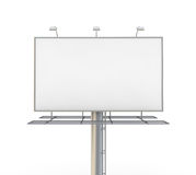 Billboard. Blank billboard. 3D generated image Stock Image