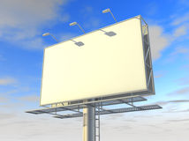 Billboard. Blank billboard. 3D generated image Stock Photos
