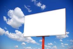 Billboard. Advertising billboard on sky background stock photography