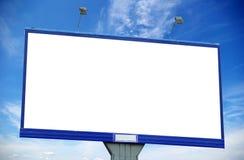Billboard. Advertising billboard on sky background royalty free stock images