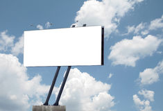 Billboard. On an air with clouds royalty free stock photo