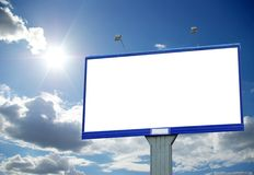 Billboard. Advertising billboard on sky background Royalty Free Stock Image