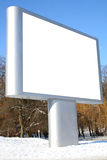 Billboard. One white billboard for advertising Stock Images