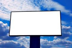 Billboard. In background of sky stock image