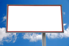 Billboard. With the sky and clouds in the background royalty free stock photography