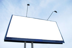 Billboard. Clear Advertisement Billboard on Sky Background Royalty Free Stock Images