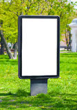 Billboard advertising. Blank billboard advertising on the street, to accommodate your text or pictures stock photos
