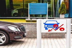 Billboard advertising car sales . The concept of changes in market prices Stock Photos
