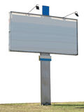 Billboard advertising panel with empty space and light projector Royalty Free Stock Photo