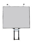 Billboard advertising panel with empty space and light projector Stock Photo