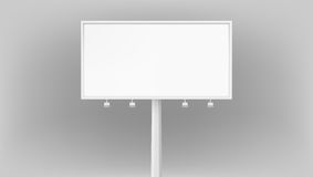 Billboard advertising panel with empty space and light projectors  on white background Stock Photo