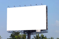 Billboard or advertising poster for advertisement concept backgr Royalty Free Stock Photo