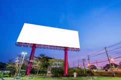 Billboard or advertising poster on building for advertisement co. Ncept background royalty free stock images