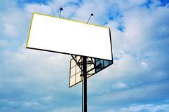 Billboard. Against the blue sky Stock Images