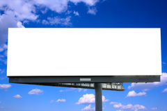 Billboard against blue sky Royalty Free Stock Photos