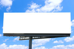 Billboard against blue sky Royalty Free Stock Image