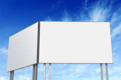 Billboard against blue sky Stock Images