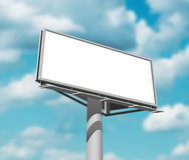 Billboard against sky background day image vector illustration