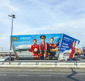Billboard of Airline Aeroflot at Berlin Airport Tegel Royalty Free Stock Photography