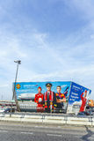 Billboard of Airline Aeroflot at Berlin Airport Tegel Stock Photo
