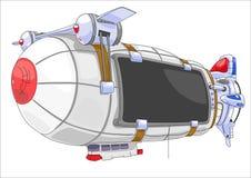 Billboard airship. Royalty Free Stock Photo